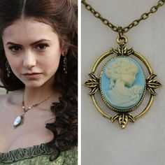 Pick up this BRAND NEW The Vampire Diaries Katherine Necklace Today! It is a perfect gift for all Katherine and Vampire diaries fans so pick up one for you and a friend today. Material: Zinc Alloy/Cry