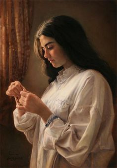 A Girl by the Window (detail), 2000, Iman Maleki