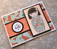Card created by Elisabeth Hogarth using the Kimono Collection from Craftwork Cards