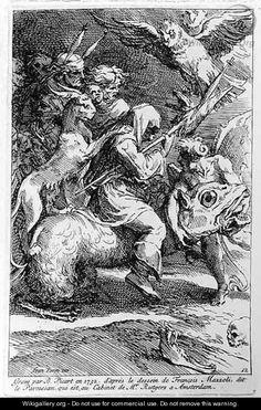 The Witches Sabbath, engraved by Bernard Picart 1673-1733 1732 - Girolamo Francesco Maria Mazzola (Parmigianino)