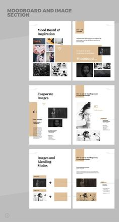 Brand Manual and Identity Template – Corporate Design Brochure – with real text!Minimal and Professional Brand Manual and Identity Brochure template for creative businesses, created in Adobe InDesign in International DIN and US Letter size. Portfolio Design Layouts, Graphic Design Layouts, Book Design Layout, Graphic Design Inspiration, Portfolio Ideas, Portfolio Book, Template Portfolio, Graphic Portfolio, Design Portfolios