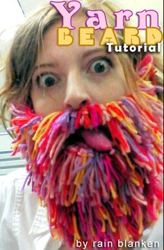 In this yarn beard tutorial, learn how to make a yarn beard using simple crochet techniques for the base, and simple knotting to make a bushy, full beard.