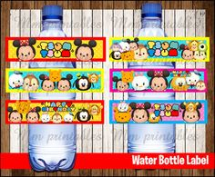 INSTANT DOWNLOAD Water Bottle Label - Printable featuring Simply print, cut out, and attach and more.  ♥ ♥ This item cannot be modified in any
