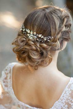 Bridal hair comb Wedding hair comb Leaves by AnnAccessoriesStudio
