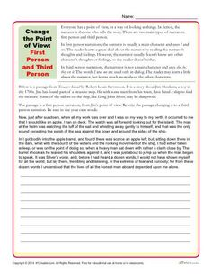 Change the Point of View Worksheets | Worksheets, Activities and ...