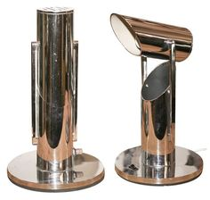 Chrome Art Deco Table Lamps, 1930's