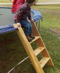 Trampoline Ladder cedar by TheArtofTimber on Etsy