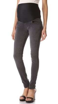 EMBRACE MATERNITY JEANS!!! You're body will thank you and so will baby. Plus it gives such a nice extra support for all that new weight in the front.