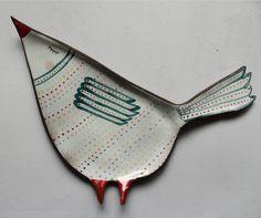 Sleepy bird - a spoon rest with folk pattern