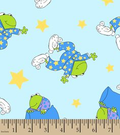 Snuggle Flannel Fabric 42''-Frog In Pajamasnull