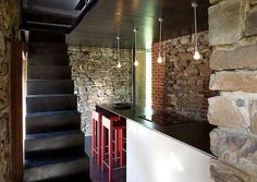 Modern stone and glass home transformed