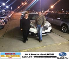 Congratulations to Janice  Livas  on your #Subaru #Outback purchase from Mikala Clark at Randall Noe Subaru! #NewCar