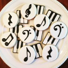 Items similar to Music Cookies-Perfect for a Recital or Concert-One Dozen on Etsy - Items similar to Music Cookies-Perfect for a Recital or Concert-One Dozen on Etsy Music Cookies-Perfect for a Recital or Concert-One Dozen USD) by MrsCookieBakes Iced Cookies, Royal Icing Cookies, Fun Cookies, Cake Cookies, Sugar Cookies, Cupcake Cakes, Music Cookies, Music Themed Cakes, Holiday Pies
