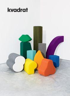 Kvadrat shapes referring to memphis design Arte Fashion, Memphis Design, Shape And Form, Art Plastique, Installation Art, Sculpture Art, Abstract Sculpture, Abstract Art, Web Design