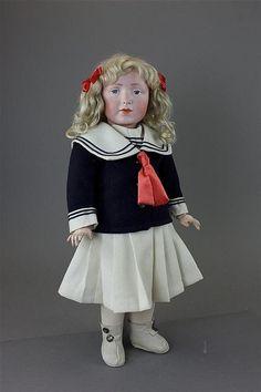 "18"" RARE Kammer Reinhardt 109 ""Elise"" Bisque Head Character | eBay"