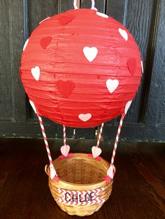 Valentine's Box, Hot Air Balloon Basket