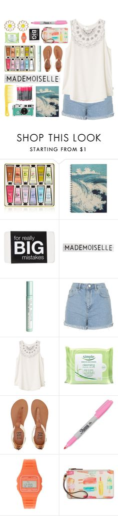 """Summer Style"" by lover-of-pie ❤ liked on Polyvore featuring Rosanna, H&M, Topshop, RVCA, Simple, Billabong, Sharpie, Casio, Kate Spade and Monsoon"