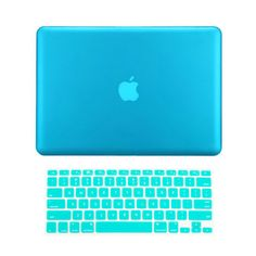 TopCase 2 in 1 Rubberized Aqua Blue Hard Case Cover and Keyboard Cover... (26 AUD) ❤ liked on Polyvore featuring accessories y tech accessories