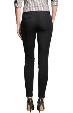 Now you can go to work in a pair of formal dress pants and then work out in the same pair of stretchy yoga pants. These pants have a formal presence on the outs
