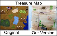 A cute treasure map you can make this summer with your kids from http://www.justcraftyenough.com/