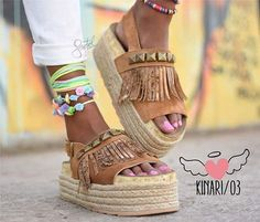 Fun shoes for the summer days! Wedge Boots, Shoe Boots, Shoes Sandals, Crazy Shoes, Me Too Shoes, Moda Lolita, Basket Sneakers, Inspiration Mode, Shoe Game