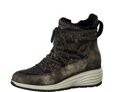 Tamaris Elegantní dámská zimní obuv 1-1-25420-27 928 Gold ant. comb