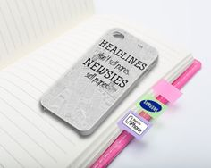 Newsies Newspaper Quotes Phone Case for iPhone by QueenAnneRevenge, $17.00