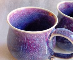 Wheel Thrown Pottery Coffee or Tea Cup in a by PotterybyJolene, $17.50  - Wow, do I ever love this glaze!