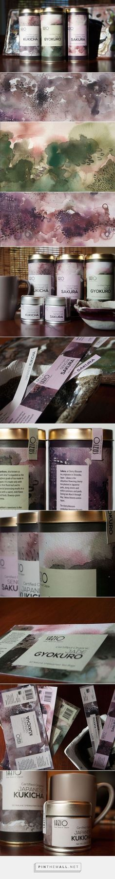 Sazio Tea Packaging by Michele Alise | Fivestar Branding Agency – Design and Branding Agency & Curated Inspiration Gallery