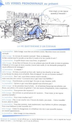 Daily routine reading or listening activity French Slang, French Verbs, French Grammar, French Phrases, French Quotes, French Flashcards, French Worksheets, French Teacher, Teaching French
