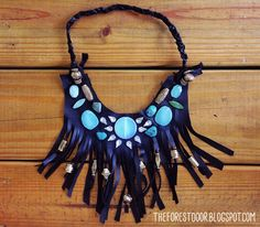 The Forest Door - a lifestyle, DIY, and design blog: Boho Fringe Statement Necklace DIY