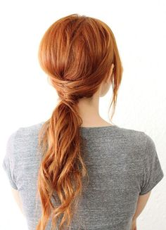 Easy, Low Ponytail Hairstyle: Long Hair Styles 2015