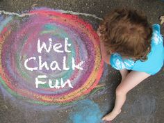 Fun art with Wet Chalk Prints