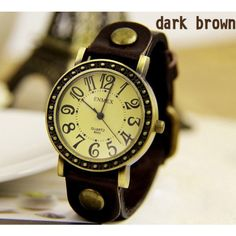 Cheap Fashion Retro watch with strap of leather- dark brown , Retro Watches - Womens Watches - Accessories &Jewelry For Big Sale! Cheap Fashion Retro watch with strap of leather- dark brownJust $24.90 . The Cheap ENMEX carved Retro watch very Graceful very New. in Atwish.com