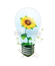 Vektor: sun_energy_flower