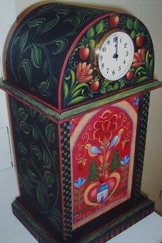 "Rosemary West Wonderrful Colorful Pattern Packet ""Folk Art Clock"" 