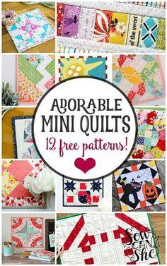 56 Best Mini Quilts! images in 2019 | Quilts, Quilt Patterns