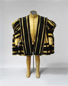Rock / Mens clothing consisting of skirt, jacket, pants, pair of stockings Basemer, Nicol (1550) | Schneider To 1545-1550. Shell: Florence, silk weavers workshops Peri and Perotti. Tailoring: Well Nicol Basemer called Prussian Electoral Body Schneider. armory