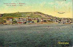 Καστέλλα. Προσέξτε πίσω τον λόφο τελείως γυμνό. Δεντροφυτεύτηκε το 1914 από τους προσκόπους Πειραιά. Old Photos, Vintage Photos, Good Old Times, Historical Photos, East Coast, Old Town, Athens, Paris Skyline, Greece