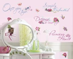 Bring the enchantment of the Disney Princess characters to your little girl's room with these beautiful phrases wall decals. Description from ebay.com. I searched for this on bing.com/images