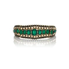 Embellished Stretch Bracelet by Chloe + Isabel. Dramatic stretch #bracelet encrusted with #emerald and golden shadow #Swarovski crystals. www.chloeandisabelseattle.com $58