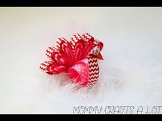 Peacock hair bow tutorial (how to make peacock hairbow) - YouTube