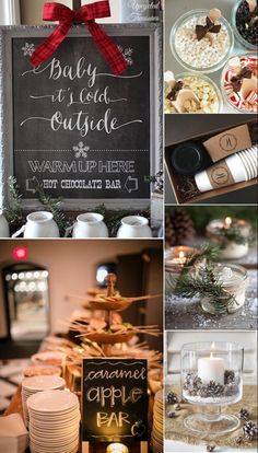 Winter Wedding Shower Themes You'll Love! - Five Winter Wedding Shower Themes You'll Love! -Five Winter Wedding Shower Themes You'll Love! - Five Winter Wedding Shower Themes You'll Love! Christmas Bridal Showers, Christmas Wedding Decorations, Winter Bridal Showers, Wedding Shower Decorations, Christmas Baby Shower, Wedding Themes, Wedding Favours, Food Decorations, Wedding Venues