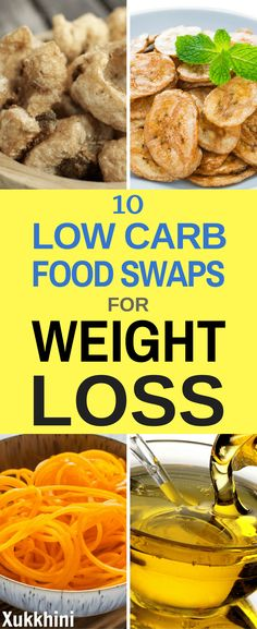 One of the easiest ways to lose weight fast is to use low carb food swaps. It is easier than having to keep an eye on portion control at every meal. It's also more enjoyable than the drudgery of calorie counting! Lose Weight At Home, Help Losing Weight, Weight Gain, How To Lose Weight Fast, Loose Weight, Reduce Weight, Quick Weight Loss Diet, Weight Loss Snacks, Food Swap