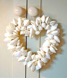 Shell Heart Wreath by Ella James