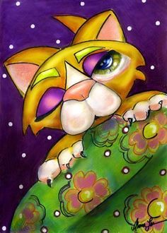 Art: I Missed You Kitty SOLD by Artist Alma Lee