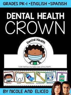 This downloads in English plus a FREE Spanish version. It includes color and blackline dental health vocabulary cards and a crown craft template. I use it to support academic vocabulary development while we learn about dental hygiene. You can make it during your unit or lessons with the whole class, at learning centers or stations, or as an independent activity.