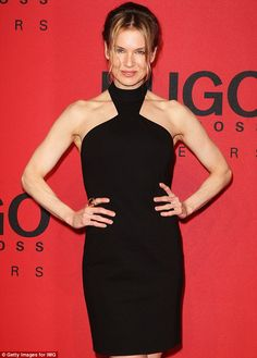 An inverted triangle Renee Zellweger is so proud of her sculpted shoulders and totally shows them off with this cutaway neckline. So should you!