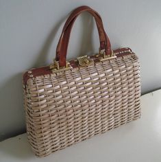 Vintage 1960s Summer Straw Purse by LessThanPerfect on Etsy