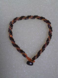 Black & Orange spiral bracelet